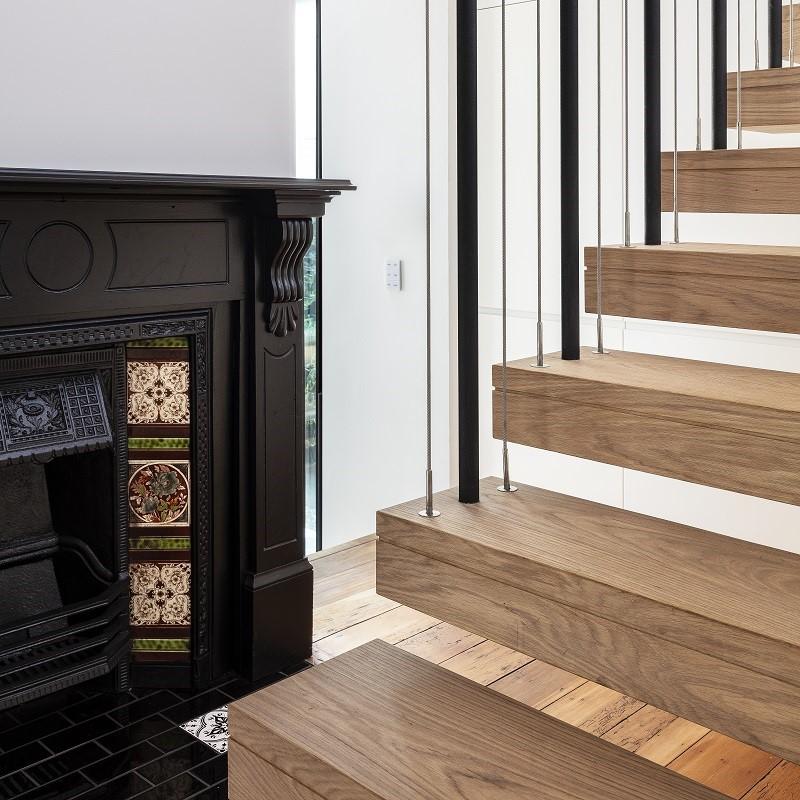 Custom Floating Stair Case Manly European Oak